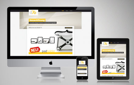 Mobile Website mit Onlineshop für ein Designer Label