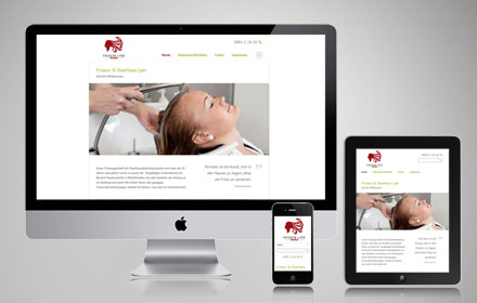 Mobile Website - Friseur Lyer